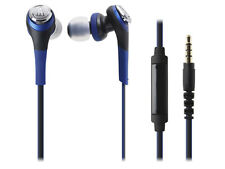Audio-technica SOLID BASS ATH-CKS550iS BL Smartphone In-Ear Headphones Blue