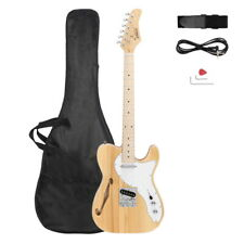 Gtl Semi-Hollow Electric Guitar F Hole Ss Pickups Maple Fingerboard Log Color