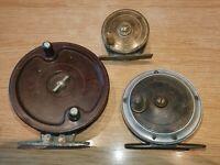 Antique & Vintage Brass, Alloy & Bakerlite Coarse & Fly Fishing Reels
