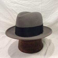ea6c2df1ffa16 Charcoal Grey Resistol Kitten Finish Fedora Beaver Fifteen Men s Hat Vintage