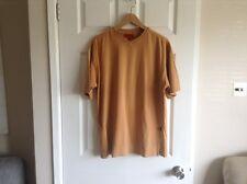 men's rockport V neck top size L,mustard colour,short sleeves