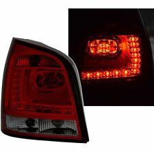 2 FEUX ARRIERE LED VW POLO 9N 10/2001 A 05/2005 NOIR ROUGE STYLE POLO 6R