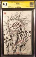 DC Comic DCEASED #1 CGC SS 9.6 NOT 9.8 Sketch Variant HARLEY BATMAN JOKER ZOMBIE