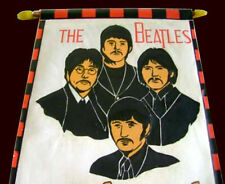 "THE BEATLES Original Old pennant 1960's size 7,08"" x 11,02"""