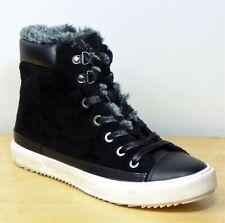 M&S Faux FUR Trainer Style ANKLE BOOTS ~ Size 7 ~ BLACK Mix