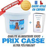 "Bicarbonate de soude 5Kg -Alimentaire E500 ""Extra fin"" + mini guide OFFERT"