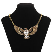 Retro Gold/Silver Color Animal Eagle Wing Pendants Necklace for Men Jewelry Gift