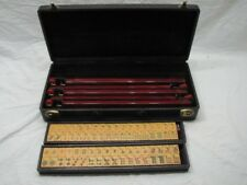 VINTAGE BAKELITE MAHJONG TILE GAME SET MAH JONG CATALIN W/CASE FREE SHIP
