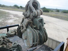 """1 Used 8"""" Dual Sheave Snatchblock SWL 12-Ton Crosby, 7/8""""WR,for Military Wrecker"""