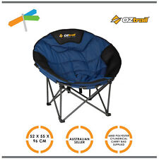 OZtrail Jumbo Padded Moon Chair 150kg Rated - Camping Caravan Holidays