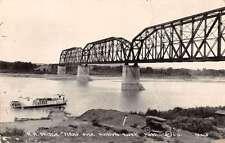 Mobridge South Dakota RR Bridge Real Photo Antique Postcard K22438