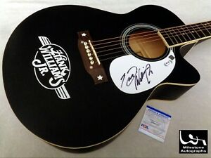 HANK WILLIAMS JR. Autographed Signed Guitar w/ PSA/DNA COA - NO RESERVE!