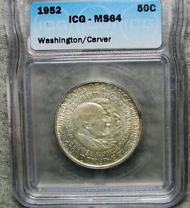 1952 Washington Carver Commemorative Silver Half MS-64 ICG Slabbed ----   #981