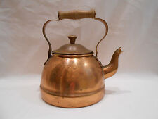 Vintage Solid Copper Kettle Teapot With Wooden Handle Made in Portugal by ODI