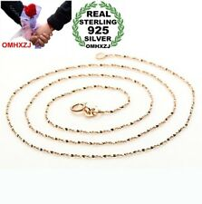 Fashion Woman Sterling 925 Silver Rose Gold Snake Bone Star Chains Necklace NK09