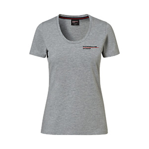New Genuine Porsche Drivers Selection Womens Motorsport Grey T Shirt Size Large