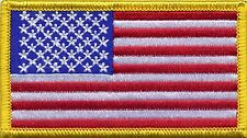 American Flag USA Stars and Stripes Embroidered Badge, Patch 80mm x 45mm