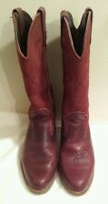 VTG WOMEN's DEXTER®  Leather Western Burgundy Boots Size 9M