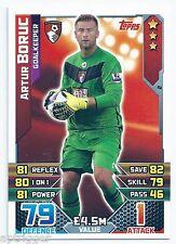 2015 / 2016 EPL Match Attax Base Card (2) Artur BORUC AFC Bournemouth