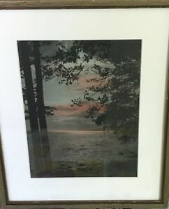 Hand Coloured /Hand Tinted Photograph by Gowen Sutton Ltd. Vanc.- Pacific Sunset