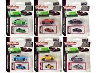 Majorette 3153 Deluxe 2020 Porsche 911 Carrera S Set of 6 Diecast Cars 1/64