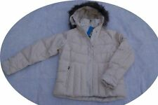 Columbia Luxey Bay Women Down Ski Coat Parka Winter Jacket Off White X Large XL