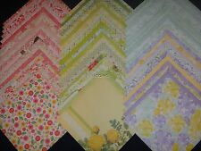 12x12 Scrapbook Paper DCWV Fresh Floral Stack 60 Wholesale Lot Supplies Bulk Kit
