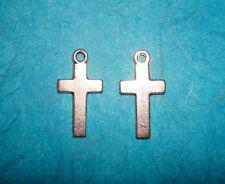 Cross Charms Religious Charms Spiritual Lot of 2 Charms Cross Church Rosary