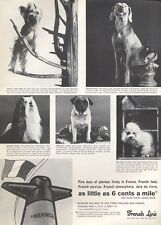 1965 French Line Cruise Ship Boat Dogs on Board PRINT AD