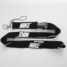 Nike Lanyard Detachable Keychain iPod Camera Strap Badge ID Running Cell Blk