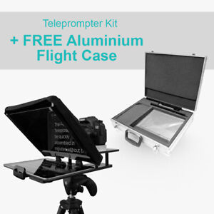 FOREST iPad Teleprompter Auto Cue Prompter Kit Cue + Padded Aluminum FLIGHT CASE