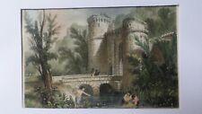 Gravure sur acier de Rouargue - de 1843 - Saint-Jean des Bois - couleur