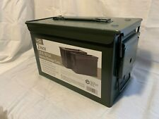 Magnum Metal Ammo Can–Military Grade Fat 50/30 Cal Ammunition Metal Storage 2pk
