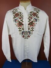 Rare Vintage Traditional Hungarian Embroidered Floral Folk Top New