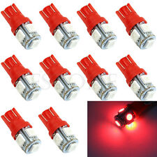 10x T10 XENON Red 5050 SMD 5 LED 194 168 W5W Light Wedge Bulb Car Tail Lamp new