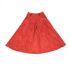 Rust Faux Suede Midi Skirt. Size S. New! Ship Free!