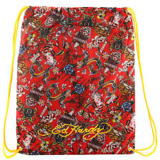 Ed Hardy Lightweight Tattoo Graphic Drew Drawstring Backpack Bag Panther/Parrot/