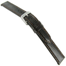 14mm Di Modell Indiana Genuine Lizard Stitched Brown Ladies Watch Band Regular