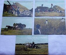 Antique Vtg Vintage Postcard PC Lot Canadian Harvesting Farm Farming Canada