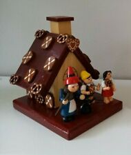 More details for german handmade wooden incense smoking hansel & gretel cottage house by expertic