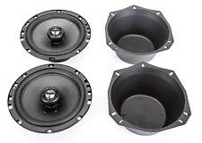 "NEW Skar Audio 6.5"" 200W 2 Way Car Audio Speaker System with 2 Baffles Included"