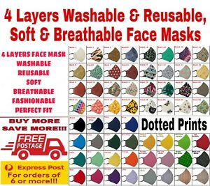 4 Layers Washable And Reusable Face Mask-Soft And Breathable