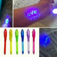 Creative Magic UV Light Invisible Ink Pen Marker Pen Gift Highlighters 13cm J9H6