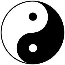 Yin Yang Vinyl Sticker 10cm laptop car Chinese philosophy tai chi I Ching taoism