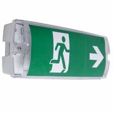 Emergency Light 3W Bulkhead Light with Adhesive Legends - IP65 LED Bulkhead