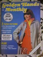 Vintage Golden Hands Monthly Sewing/Crafting Magazine February 1976-Issue 44