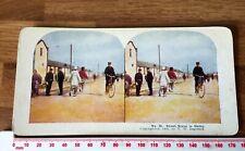 50 Street Scene in Dalny Nr Port Arthur Antique 1904 INGERSOLL Colour Stereoview
