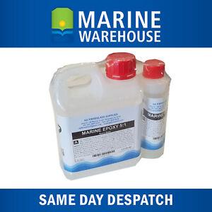 1.2L Marine Epoxy Resin and Hardener Kit - Fiberglass 5:1 Resin kit - 7514