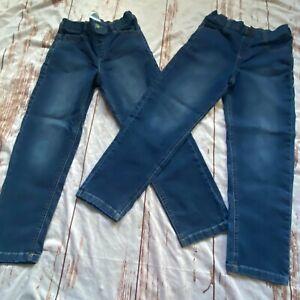 3665 Kids by Garanimals kids dark wash straight leg denim jeans-2 pair-size 8-gu