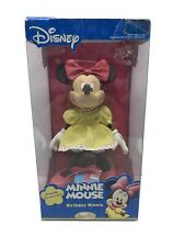 Walt Disney Minnie Mouse Birthday Porcelain Collectible Doll New In Box